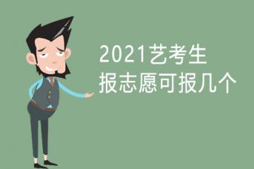2021艺考生报志愿可以报几个?
