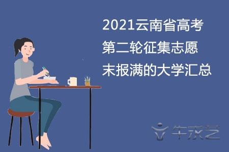 2021云南省高考第二轮征集志愿末报满的大学汇总