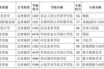 四川省2021年艺术类本科第二批录取未完成计划征集志愿