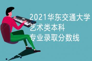 2021华东交通大学艺术类本科专业录取分数线