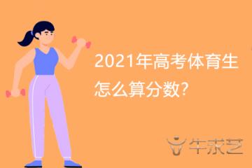 2021年高考体育生怎么算分数?