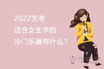 2022艺考适合女生学的冷门乐器有什么?