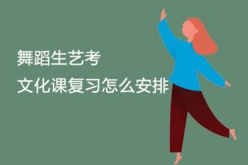 联考之后,舞蹈生艺考文化课复习怎么安排