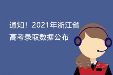 通知!2021年浙江省高考录取数据公布