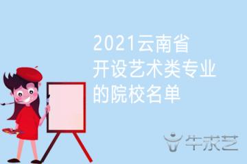 2021云南省开设艺术类专业的院校名单