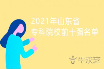 2021年山东省专科院校前十强名单
