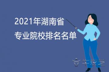 2021年湖南省专科院校排名名单