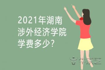 2021年湖南涉外经济学院学费多少?