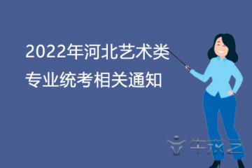 2022年河北艺术类专业统考相关通知