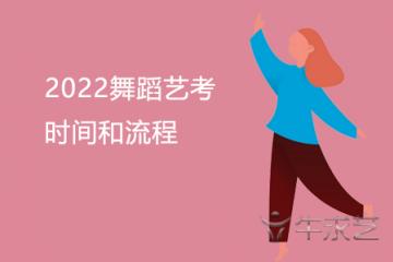 2022舞蹈艺考时间和流程