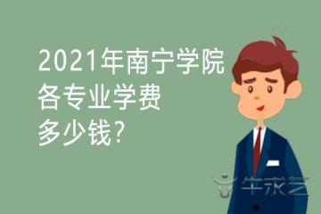2021年南宁学院各专业学费多少钱?