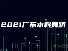 2021广东本科舞蹈类统考征集志愿投档最低分