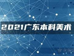 2021广东本科美术类统考征集志愿投档最低分