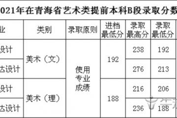 四川工商学院2021年艺术类本科专业录取分数线