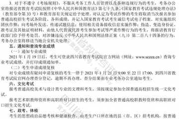2021年四川美术与设计类专业统考成绩查询网址