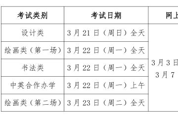 天津美术学院2021年本科招生专业考试公告(二)