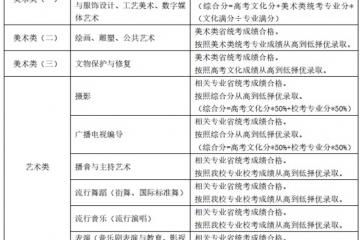 上海视觉艺术学院2021年本科专业招生计划