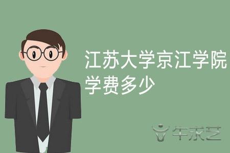 2021年江苏大学京江学院学费多少及收费标准