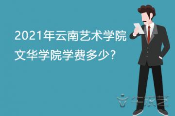 2021年云南艺术学院文华学院学费多少?