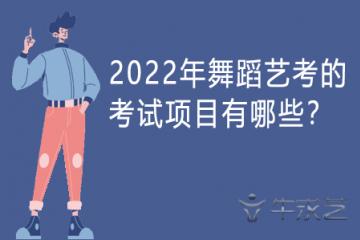2022年舞蹈艺考的考试项目有哪些?
