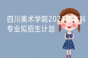 四川美术学院2021年本科专业拟招生计划