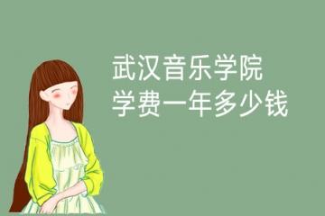 2021年武汉音乐学院学费一年多少钱