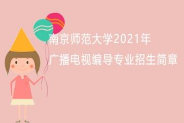 南京师范大学2021年广播电视编导专业招生简章