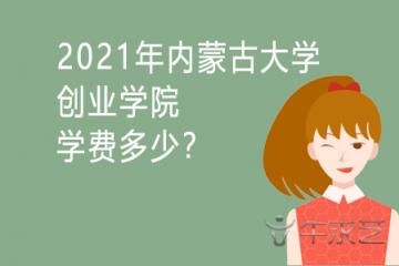 2021年内蒙古大学创业学院学费多少?