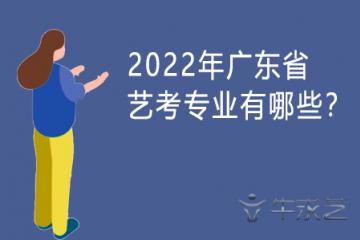 2022年广东省艺考专业有哪些?
